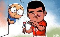 Biếm họa Hà Đức Chinh và chiến thắng trước U23 Thái Lan