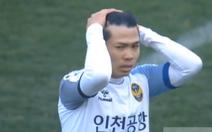 Công Phượng gây ấn tượng trong 25 phút trận Incheon thua Suwon