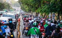 Giờ cao điểm, hai làn đường thành một ở Nguyễn Thái Sơn
