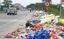 Vụ đổ trộm hàng đống rác ven đường: một người bị phạt 1 triệu đồng