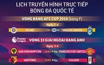 Lịch trực tiếp bóng đá ngày 2 rạng sáng 3-4: Hà Nội quyết có 3 điểm trước Yangon
