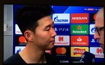 Son Heung Min 'giật mình' khi nhận 'hung tin' từ phóng viên truyền hình Đức