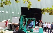 Cưỡng chế tháo dỡ nhà kho trái phép hàng trăm mét vuông
