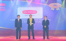 Dai-ichi Life VN liên tiếp 11 năm đạt giải 'Công ty bảo hiểm nhân thọ tốt nhất'