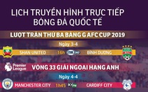Lịch trực tiếp bóng đá ngày 3 và rạng sáng 4-3: M.C, Chelsea và Tottenham xuất trận