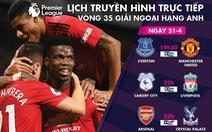 Trực tiếp bóng đá châu Âu 21-4: Arsenal, M.U và Liverpool xuất trận