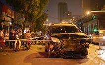 Xe đâm 'điên loạn' trên đường Láng nửa khuya, một công nhân vệ sinh chết