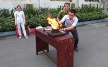 Sawaco huấn luyện PCCC và thực tập chữa cháy, cứu hộ