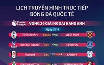Lịch trực tiếp bóng đá châu Âu ngày 27-4: Hấp dẫn trận Tottenham gặp West Ham