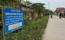 Doanh nghiệp hứa tài trợ làm đường, cả thôn... đổ nợ