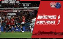 Văn Lâm cản phá xuất sắc 6 lần không đủ giúp Muangthong khỏi thảm bại 0-3