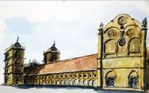 Giáo dân Bùi Chu 'phát hiện' nhà thờ của mình lộng lẫy trên... ký họa