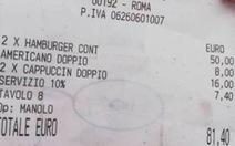 2 hamburger và 3 ly cà phê giá 2 triệu đồng, nhà hàng bị tẩy chay