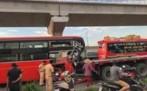 Xe Phương Trang tông đuôi xe container, phụ xe tử vong