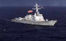 Khu trục Mỹ áp sát bãi cạn Scarborough gần Philippines