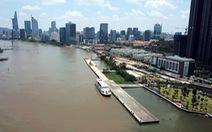 Sập xuống sông hoàn toàn cầu tàu hơn 1.500m2 trong cảng Ba Son