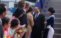 Thủ tướng Nguyễn Xuân Phúc tới sân bay Thụy Điển