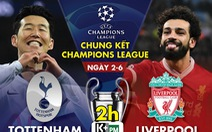 Lịch trực tiếp chung kết Champions League giữa Tottenham và Liverpool