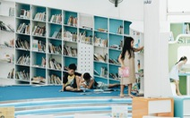 Tấm thẻ thư viện và không gian đầy ắp nụ cười