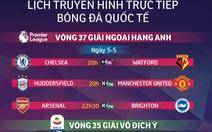 Lịch trực tiếp bóng đá châu Âu ngày 5-5: Kịch tính cuộc đua top 4