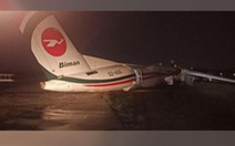 Máy bay vỡ khi trượt đường băng ở Myanmar