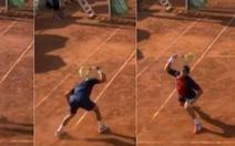 Video dân mạng nổi nóng với hành động 'điên khùng' của tay vợt Tây Ban Nha