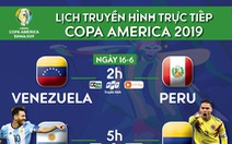 Lịch trực tiếp trận Argentina - Colombia