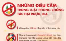Infographic: Những điều cấm trong Luật phòng chống tác hại rượu bia