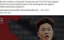 Xuân Trường đoạt danh hiệu  'Bàn thắng đẹp nhất tháng 5' của Thai League