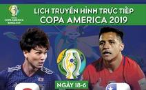 Lịch trực tiếp Chile gặp Nhật Bản ngày 18-6