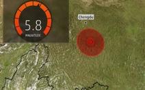 Động đất mạnh 5,8 độ Richter ở Trung Quốc, Hà Nội rung lắc