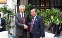 Gặp ông Hun Sen, ông Lý Hiển Long hứa không xát muối 'vết thương cũ'