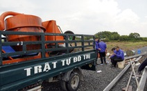 Bắt 'nóng' vụ san ủi, làm đường, có dấu hiệu phân lô đất nông nghiệp