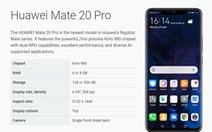 Điện thoại Huawei Mate 20 Pro bất ngờ được Google cho nâng cấp lên Android Q beta