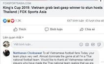 Cổ động viên Thái Lan thừa nhận Việt Nam 'thống trị trận đấu'