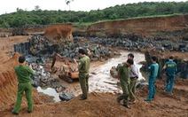 Phát hiện vụ khai thác đá trái phép 'khủng' ở Bù Gia Mập