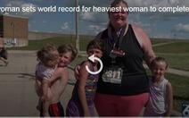 Người phụ nữ nặng 157kg lập kỷ lục thế giới trên đường chạy Marathon