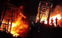 Tàu cá của ngư dân Nghệ An cháy dữ dội trong đêm
