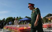 Đón nhận 144 hài cốt liệt sĩ hi sinh ở chiến trường Campuchia