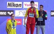 VĐV bơi Úc bị CĐV Trung Quốc 'ném đá' do từ chối đứng chung bục nhận thưởng với VĐV Sun Yang