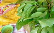 Bánh xèo ăn với rau rừng vùng Núi Cấm, khi ăn thư thái ung dung