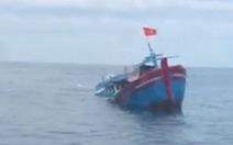 Chìm tàu cá trên biển Bình Thuận, 5 thuyền viên mất tích