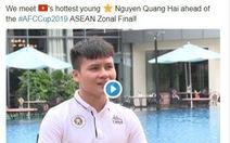 AFC gọi tiền vệ Nguyễn Quang Hải là 'thanh niên nóng bỏng nhất'