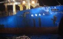 Tàu chiến Trung Quốc đâm móp tàu hàng Đài Loan