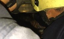 Vợ chồng con trai đi làm, hai bà cháu kẹt trong thang máy nhà riêng