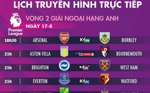 Lịch trực tiếp vòng 2 Premier League: Man City đấu Tottenham