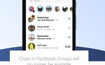Facebook dừng tính năng chat trong trang nhóm