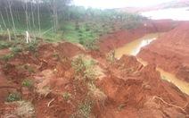 Sạt lở đất ở hồ thải quặng đuôi nhà máy alumin Nhân Cơ