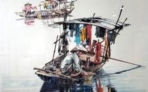 Hẻm Sài Gòn, bến Bình Đông và biển đảo vào tranh thủy mặc