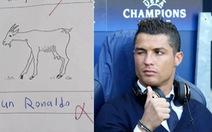 Thi rớt vì chú thích ảnh con dê là... Cristiano Ronaldo